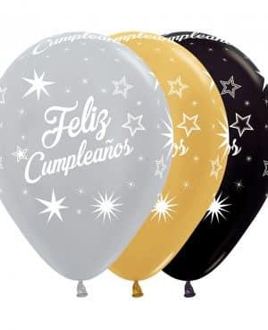 Globos destellos cumpleaños