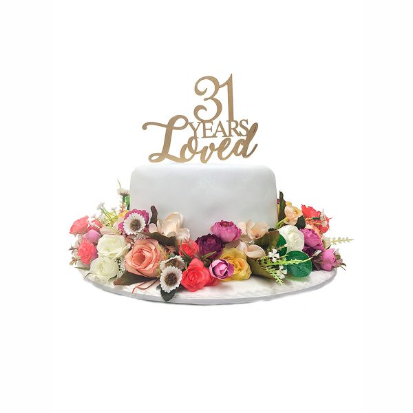 Torta flores artificiales