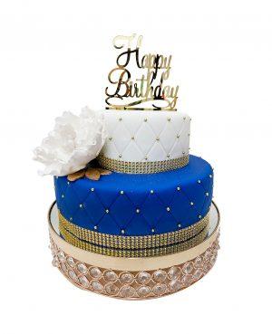 Torta flor azul