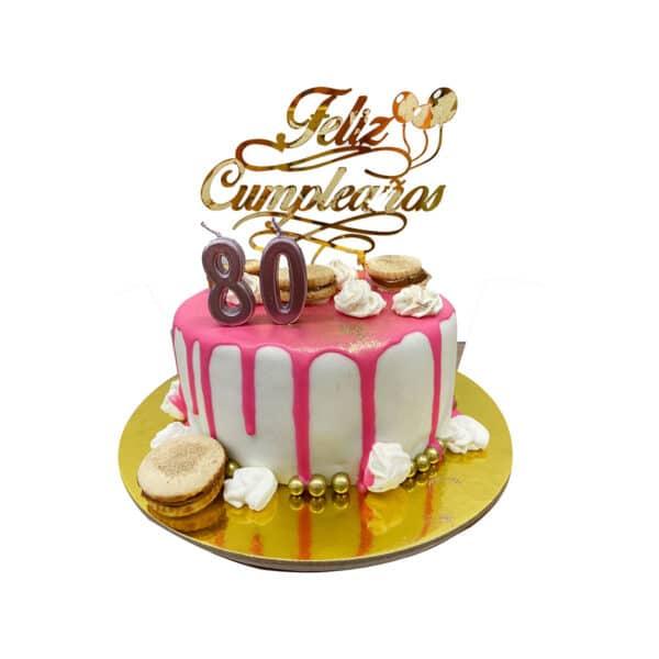 torta suspiros dama topper