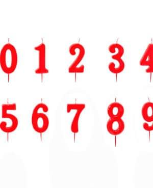 velas rojo peq numero